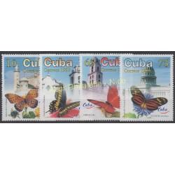 Cuba - 1999 - No 3824/3827 - Papillons