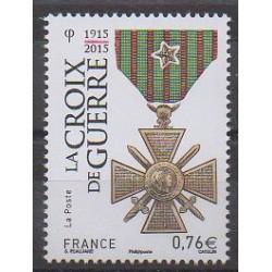France - Poste - 2015 - No 4942 - Monnaies, billets ou médailles - Première Guerre Mondiale