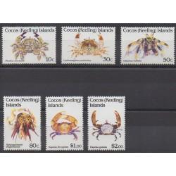 Cocos (Iles) - 1992 - No 255/260 - Animaux marins