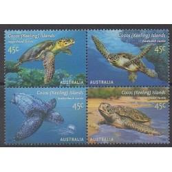 Cocos (Iles) - 2002 - No 389/392 - Reptiles