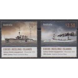 Cocos (Iles) - 2014 - No 481/482 - Première Guerre Mondiale - Navigation