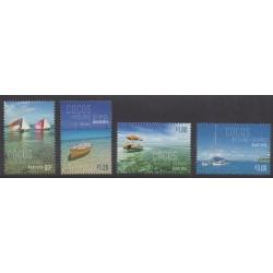 Cocos (Island) - 2011 - Nb 441/444 - Boats