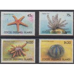 Cocos (Iles) - 1991 - No 233/236 - Animaux marins