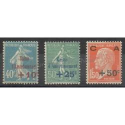 France - Poste - 1927 - Nb 246/248