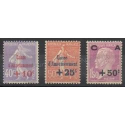 France - Poste - 1928 - No 249/251 - Neuf avec charnière