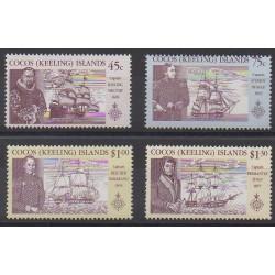 Cocos (Island) - 1990 - Nb 218/221 - Boats