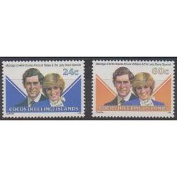Cocos (Iles) - 1981 - No 73/74 - Royauté - Principauté