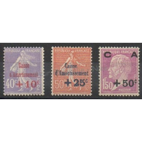 France - Poste - 1928 - Nb 249/251