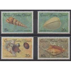 Cocos (Iles) - 1986 - No 145/148 - Animaux marins