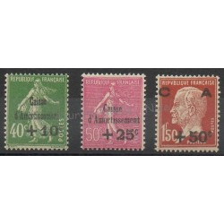 France - Poste - 1929 - No 253/255 - Neuf avec charnière