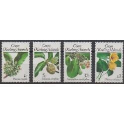 Cocos (Iles) - 1988 - No 188/191 - Fleurs