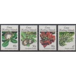 Cocos (Island) - 1989 - Nb 203/206 - Flowers