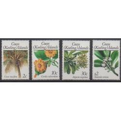 Cocos (Iles) - 1989 - No 195/198 - Fleurs