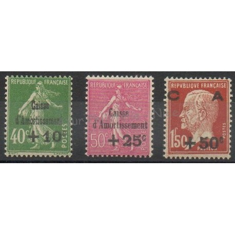 France - Poste - 1929 - No 253/255