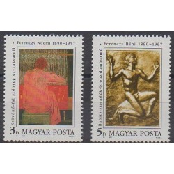 Hongrie - 1990 - No 3280/3281 - Peinture