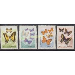 Canada - 1988 - No 1052/1055 - Papillons
