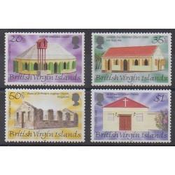 Vierges (Iles) - 1999 - No 898/901 - Églises