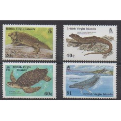 Vierges (Iles) - 1988 - No 610/613 - Reptiles