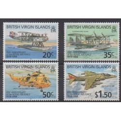 Virgin (Islands) - 1998 - Nb 861/864 - Planes - Helicopters