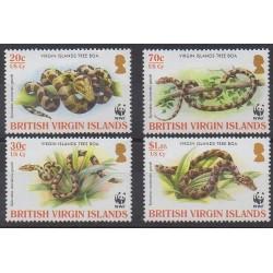 Vierges (Iles) - 2005 - No 1027/1030 - Reptiles - Espèces menacées - WWF