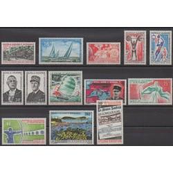Nouvelle-Calédonie - Année complète - 1971 - No 372/378 - PA120/PA125