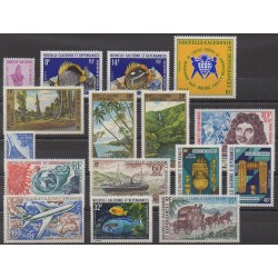 New Caledonia - Complete year - 1973 - Nb 386/389 - PA135/PA146