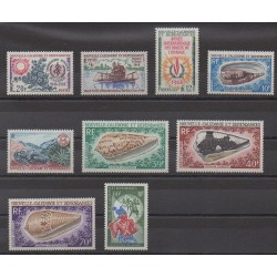 New Caledonia - Complete year - 1968 - Nb 351/355 - PA98/PA101
