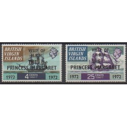 Virgin (Islands) - 1972 - Nb 233/234 - Royalty - Boats
