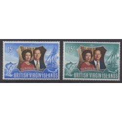 Vierges (Iles) - 1972 - No 239/240 - Royauté - Principauté