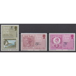 Vierges (Iles) - 1979 - No 368/370 - Timbres sur timbres