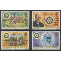 Vierges (Iles) - 1980 - No 388/391 - Rotary ou Lions club