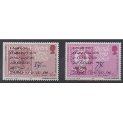 Vierges (Iles) - 1980 - No 396/397 - Timbres sur timbres