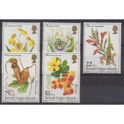 Vierges (Iles) - 1981 - No 408/412 - Fleurs