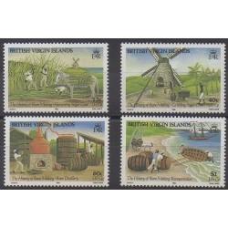Vierges (Iles) - 1986 - No 551/554 - Artisanat ou métiers