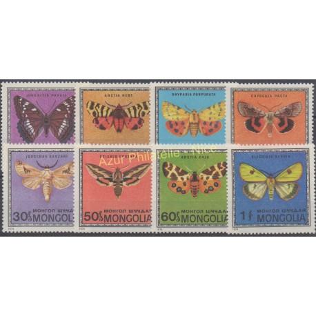 Mongolia - 1974 - Nb 995/1002 - Butterflies