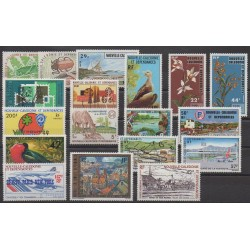 New Caledonia - Complete year - 1977 - Nb 406/415 - PA176/PA183
