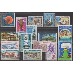 New Caledonia - Complete year - 1976 - Nb 397/405 - PA169/PA175