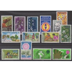 New Caledonia - Complete year - 1975 - Nb 391/396 - PA161/PA168