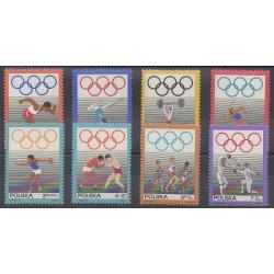 Pologne - 1969 - No 1758/1765 - Jeux Olympiques d'été