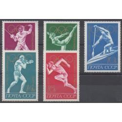 Russie - 1972 - No 3836/3840 - Jeux Olympiques d'été