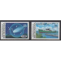 Micronésie - 1986 - No PA16/PA17 - Astronomie