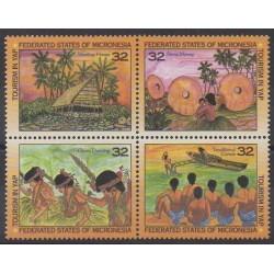 Micronésie - 1996 - No 383/386 - Tourisme