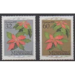 Micronésie - 1995 - No 372/373 - Fleurs
