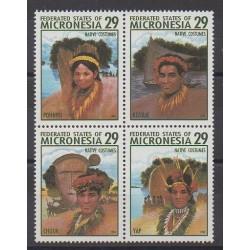 Micronésie - 1994 - No 291/294 - Costumes