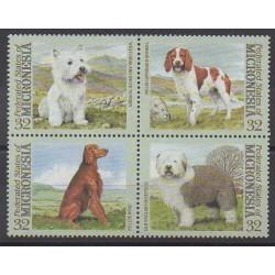 Micronesia - 1995 - Nb 344/347 - Dogs