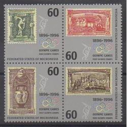 Micronésie - 1996 - No 419/422 - Timbres sur timbres
