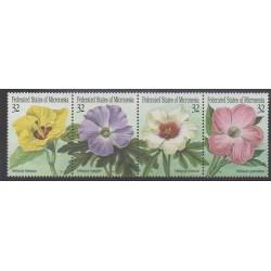 Micronesia - 1995 - Nb 348/351 - Flowers