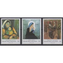 Micronesia - 1998 - Nb 558/560 - Paintings - Christmas