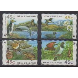 Nouvelle-Zélande - 1993 - No 1235/1238 - Espèces menacées - WWF - Environnement