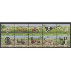 Nouvelle-Zélande - 1995 - No 1385/1394 - Mammifères